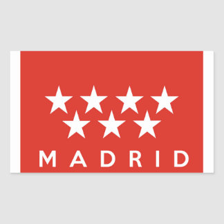 madrid city flag spain country text name sticker