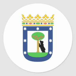 Madrid Coat Of Arms Classic Round Sticker