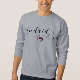 Madrid Heart Sweatshirt, Spain Sweatshirt