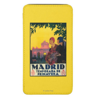 Madrid in Springtime Travel Promotional Poster Galaxy S5 Pouch