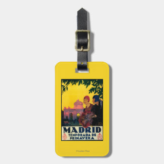 Madrid in Springtime Travel Promotional Poster Luggage Tag