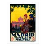 Madrid in Springtime Travel Promotional Poster Postcards