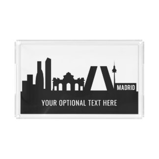 Madrid Landmarks custom text trays