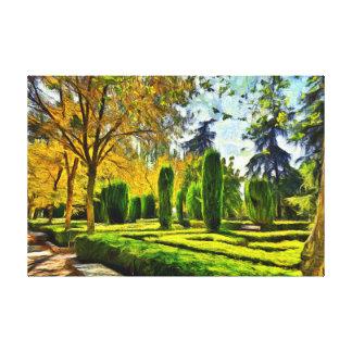 Madrid. Landscape. Retiro Park. Canvas Print