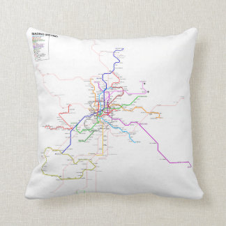 Madrid Metro - Spain Throw Pillow