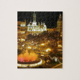 Madrid Night Skyline Jigsaw Puzzle