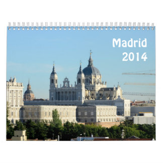 Madrid, Spain 2014 Wall Calendar