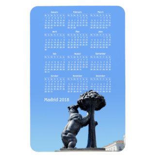 Madrid, Spain 2018 calendar Rectangular Photo Magnet