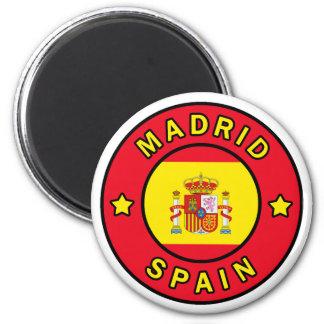 Madrid Spain 2 Inch Round Magnet