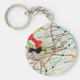 Madrid, Spain Basic Round Button Keychain