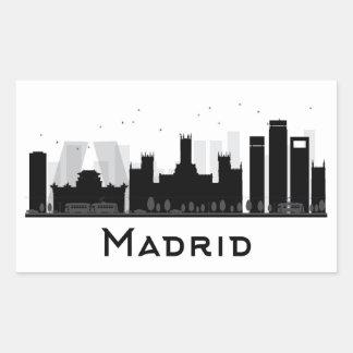 Madrid, Spain   Black & White City Skyline Sticker