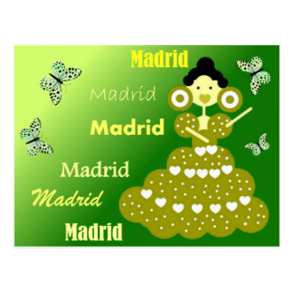 Madrid Spain, butterflies in green spring Postcard