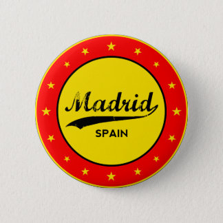 Madrid, Spain, circle, red 2 Inch Round Button