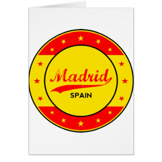 Madrid, Spain, circle, red Card