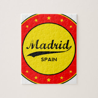 Madrid, Spain, circle, red Jigsaw Puzzle