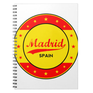 Madrid, Spain, circle, red Notebooks