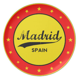 Madrid, Spain, circle, red Plate