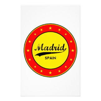 Madrid, Spain, circle, red Stationery