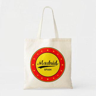 Madrid, Spain, circle, red Tote Bag