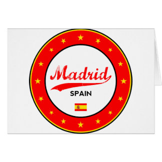 Madrid, Spain, circle, white Card