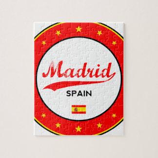 Madrid, Spain, circle, white Jigsaw Puzzle