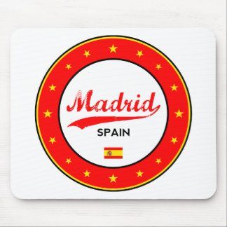 Madrid, Spain, circle, white Mouse Pad