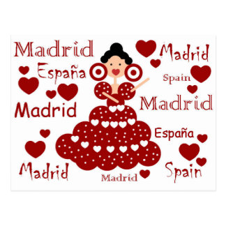 Madrid Spain flamenco wrist Postcard