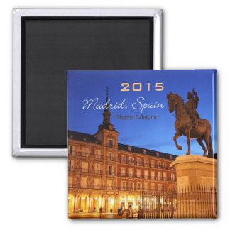 Madrid Spain Nighttime Scene Magnet Change Year