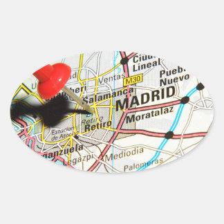 Madrid, Spain Oval Sticker