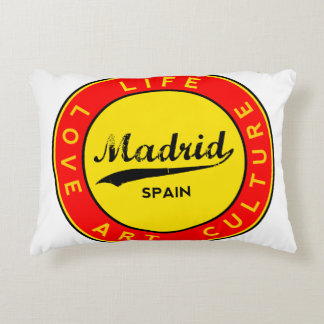 Madrid, Spain, red circle, art Accent Pillow