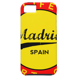 Madrid, Spain, red circle, art iPhone 5 Cover