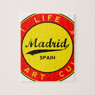Madrid, Spain, red circle, art Jigsaw Puzzle