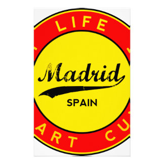Madrid, Spain, red circle, art Stationery