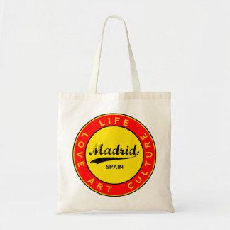Madrid, Spain, red circle, art Tote Bag