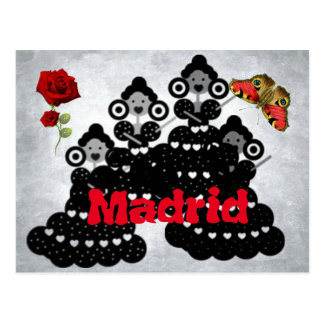 Madrid Spain. roses, flamenco and butterflies Postcard