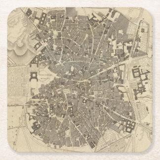 Madrid, Spain Square Paper Coaster