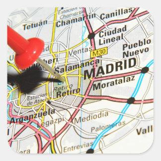 Madrid, Spain Square Sticker