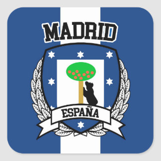 Madrid Square Sticker