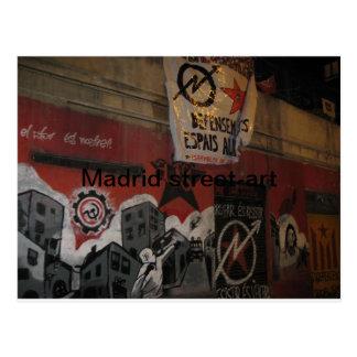 Madrid street-art postcard