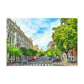Madrid street. canvas print