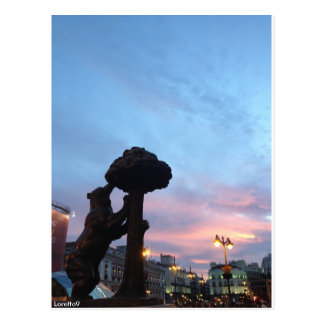 Madrid - the Bear and the Madroño Postcard