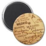 Madrid Vintage Map Magnet