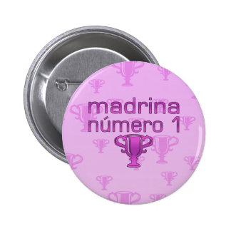 Madrina  Número 1 2 Inch Round Button