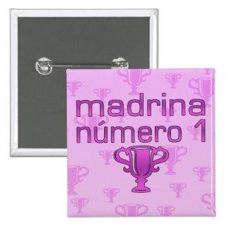Madrina  Número 1 2 Inch Square Button