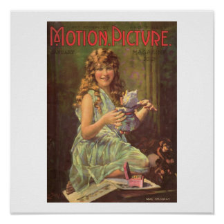 Mae Murray Vintage Christmas Movie Magazine Print