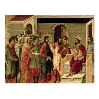 Maesta: Jesus before Herod, 1308-11 Postcard