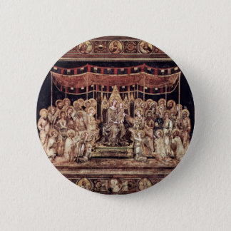 Maestà Madonna Enthroned As The Patron Saint Surro 2 Inch Round Button