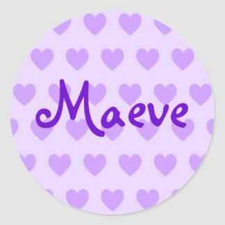 Maeve on Purple Heart Classic Round Sticker