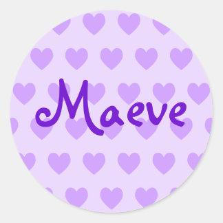 Maeve on Purple Heart Round Sticker
