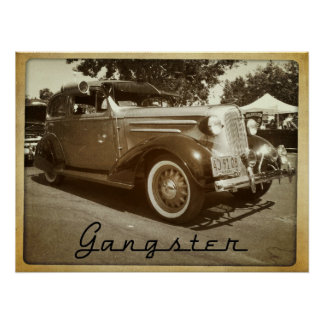 Mafia Gangster Lowrider Bomb Car Poster